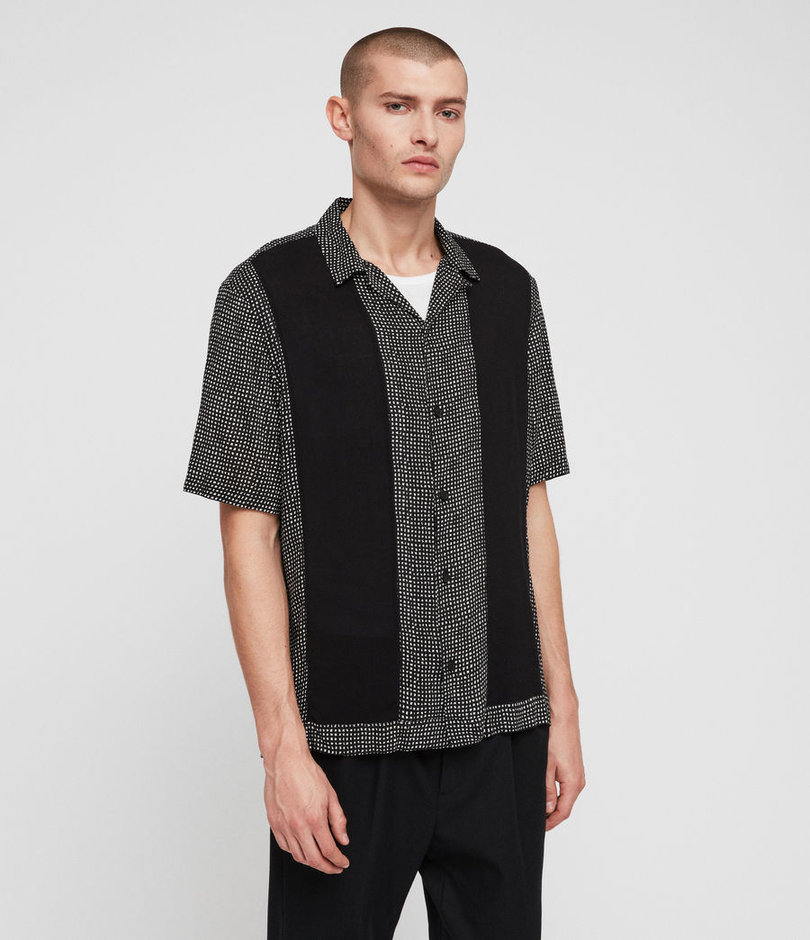 Men's Grid Shirt (black) - Image 5