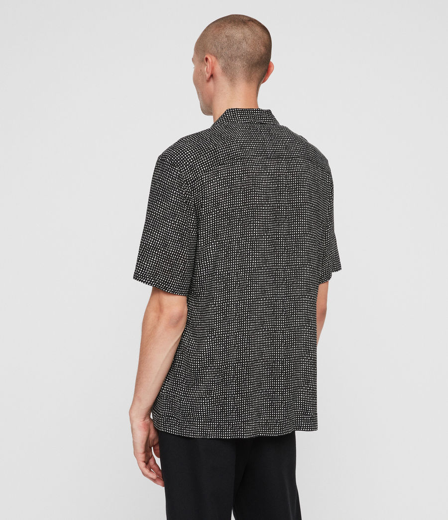 Men's Grid Shirt (black) - Image 6