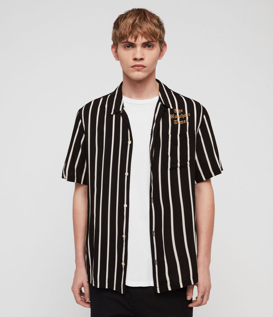Mens Limbo Shirt (jet_black_ecru) - Image 1