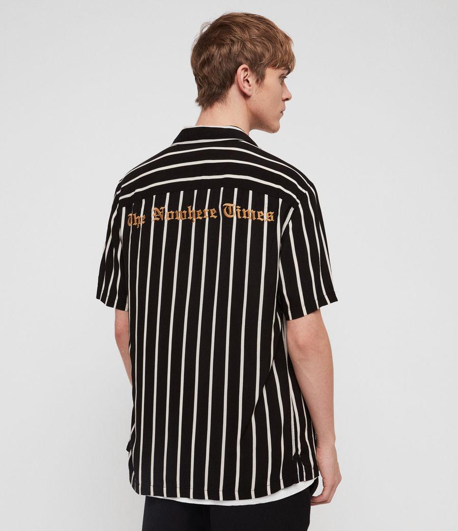 Mens Limbo Shirt (jet_black_ecru) - Image 2