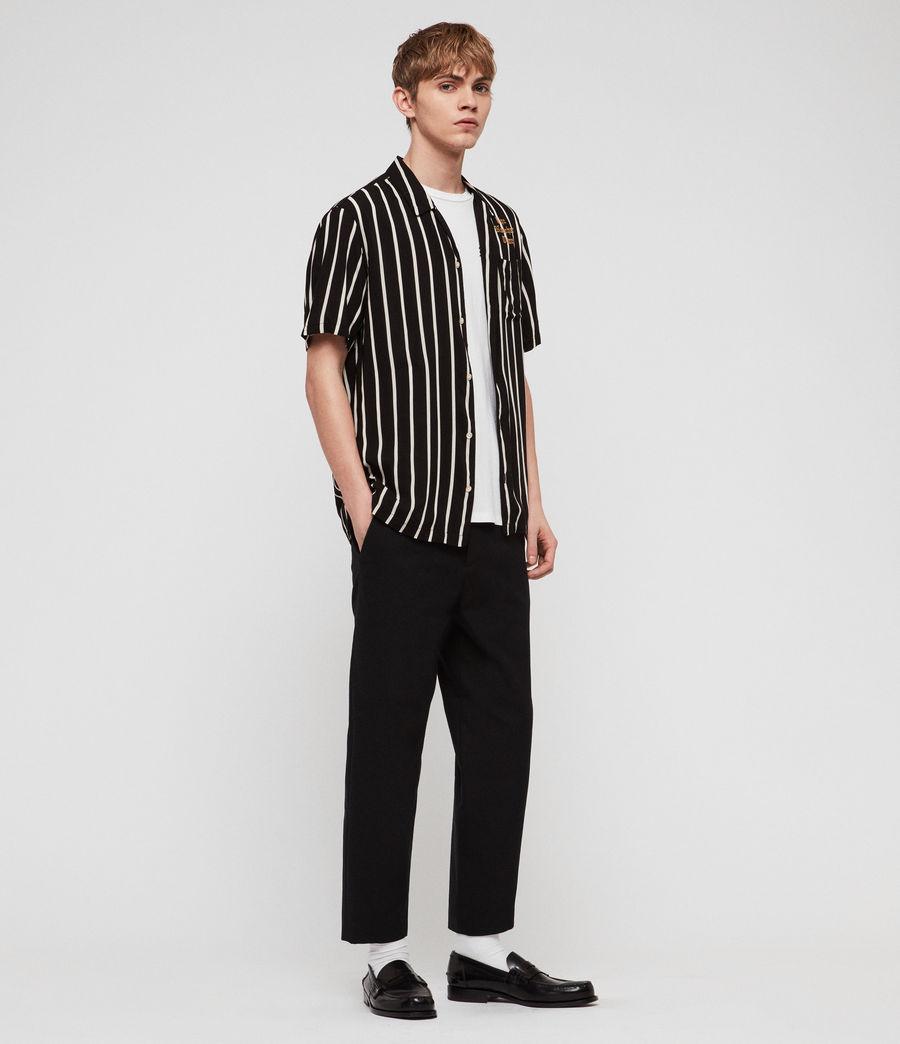 Mens Limbo Shirt (jet_black_ecru) - Image 3
