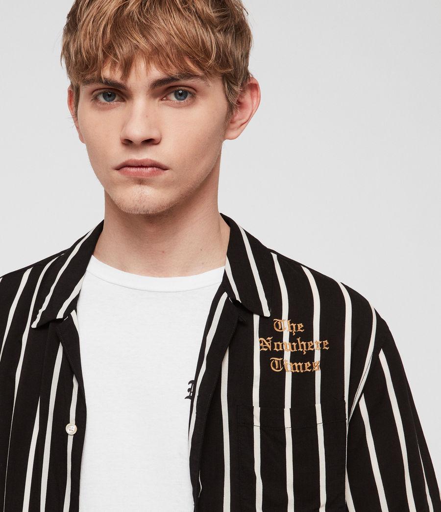 Mens Limbo Shirt (jet_black_ecru) - Image 4