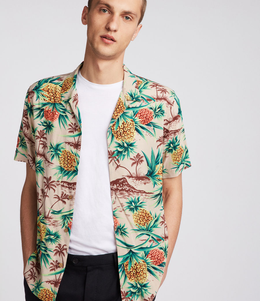 Mens Endeavour Hawaiian Shirt (mushroom_brown) - Image 1