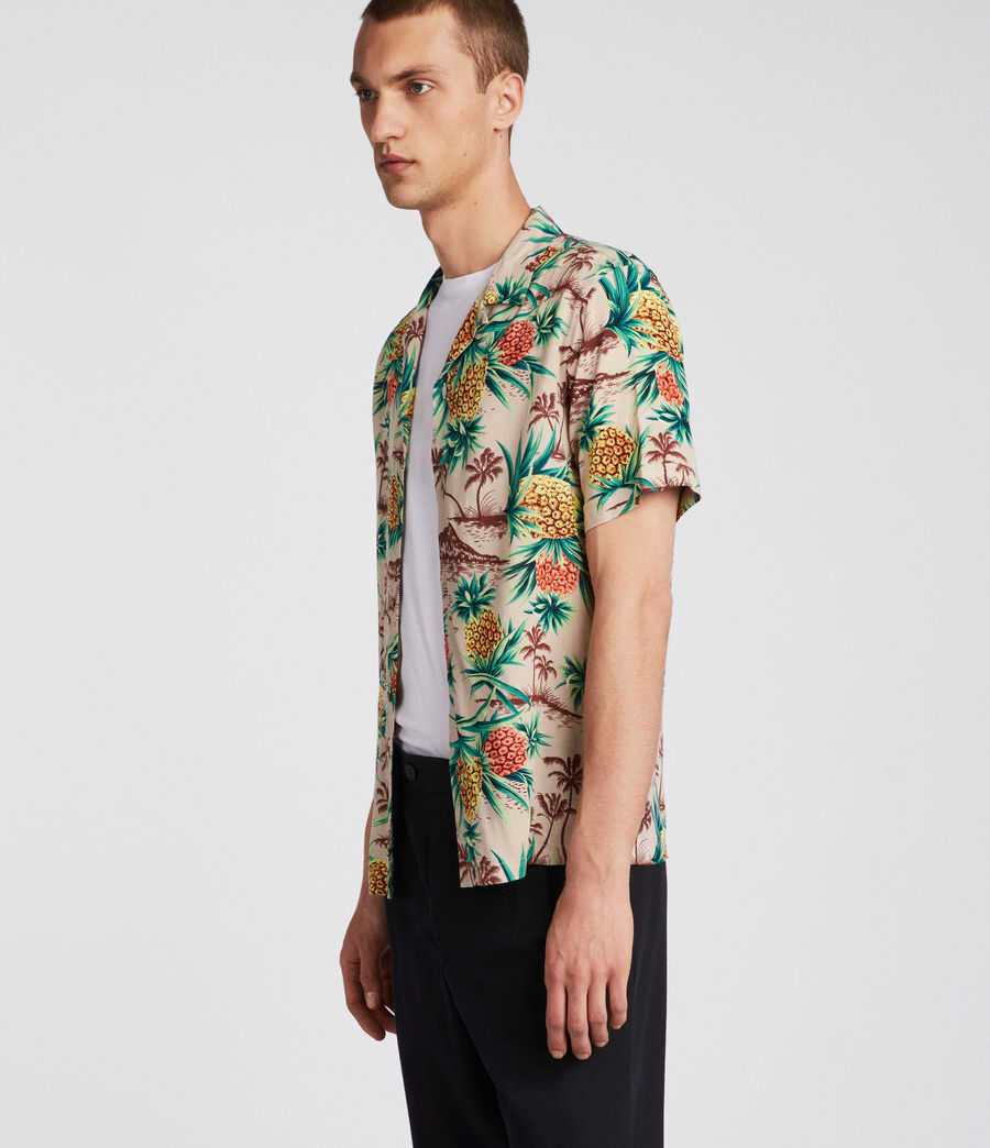 Mens Endeavour Hawaiian Shirt (mushroom_brown) - Image 3