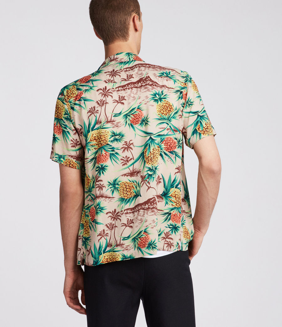 Mens Endeavour Hawaiian Shirt (mushroom_brown) - Image 4