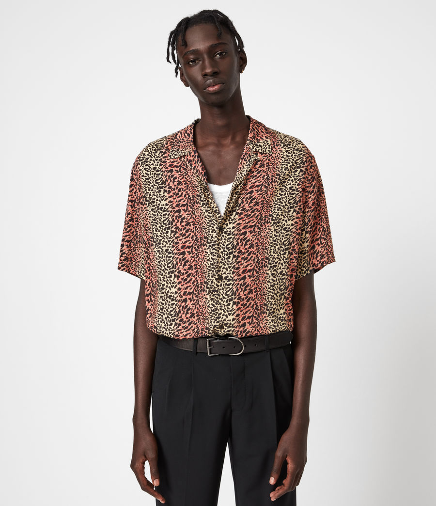 Hommes Chemise Hawaïenne Crypto (beige) - Image 1