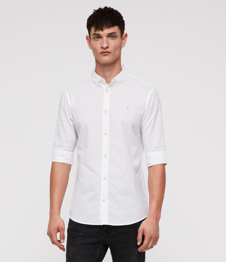 Men's Fuller Half-Sleeve Shirt (white) - Image 1