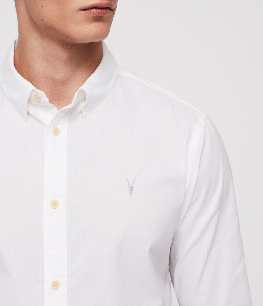 Men's Fuller Half-Sleeve Shirt (white) - Image 2
