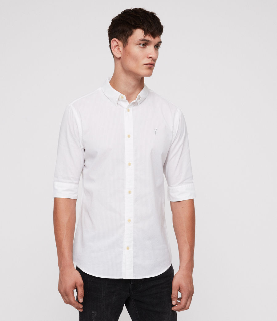 Men's Fuller Half-Sleeve Shirt (white) - Image 3