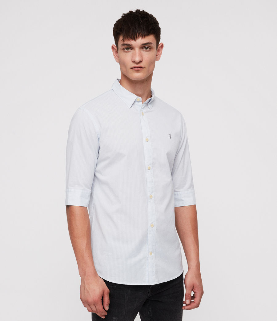 Mens Fuller Half-Sleeve Shirt (cloud_blue) - Image 3