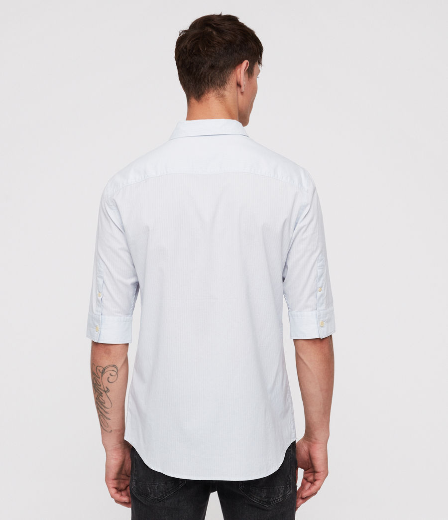 Mens Fuller Half-Sleeve Shirt (cloud_blue) - Image 4