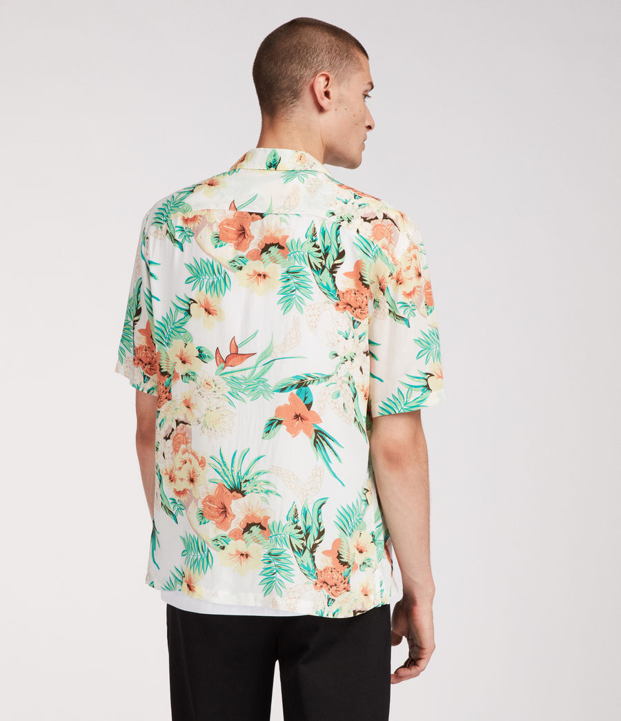 Mens Calypso Hawaiian Shirt (ecru) - Image 4