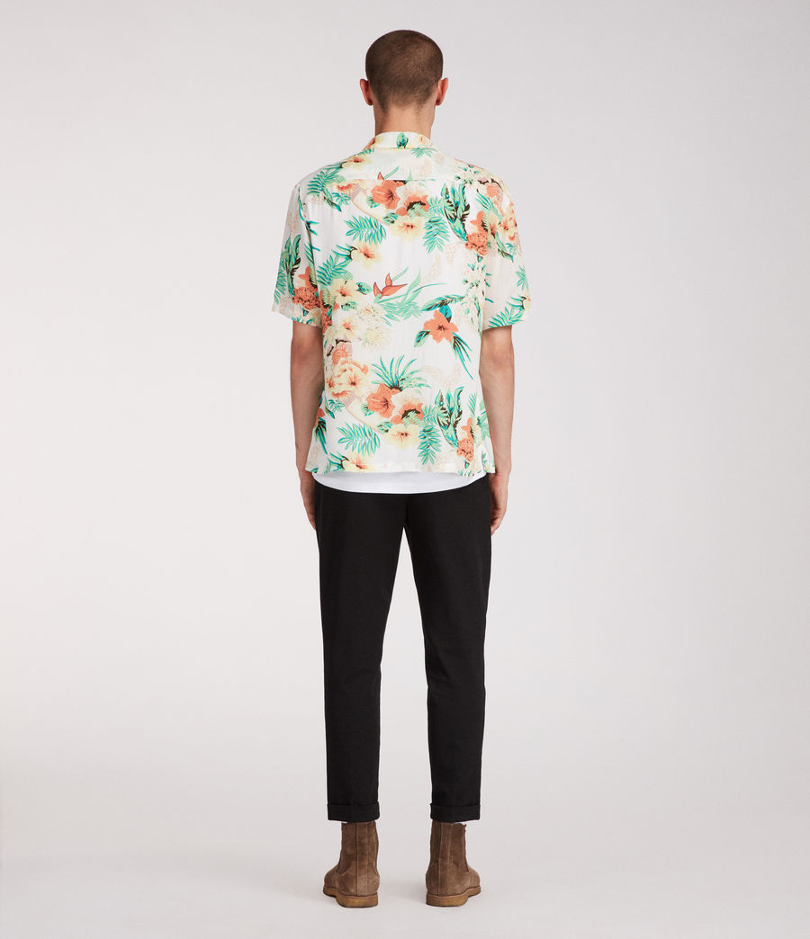 Mens Calypso Hawaiian Shirt (ecru) - Image 5