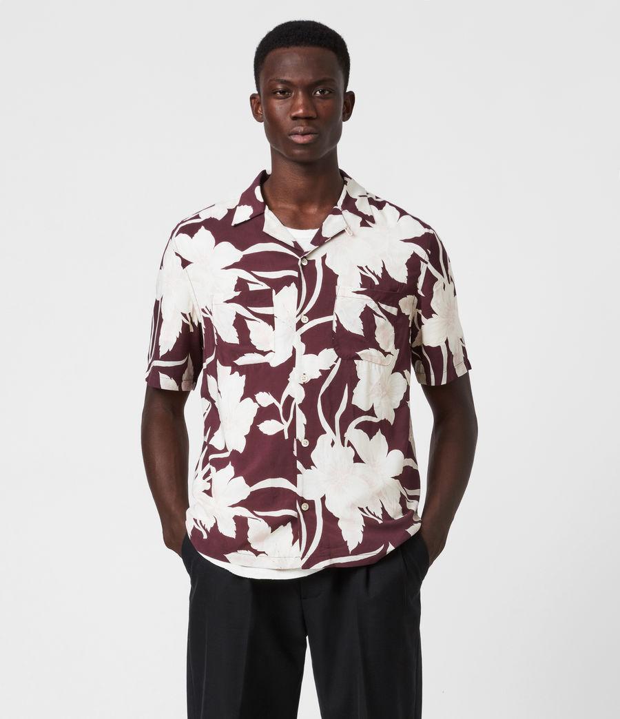 Men's Jardin Shirt (oxblood_red) - Image 1