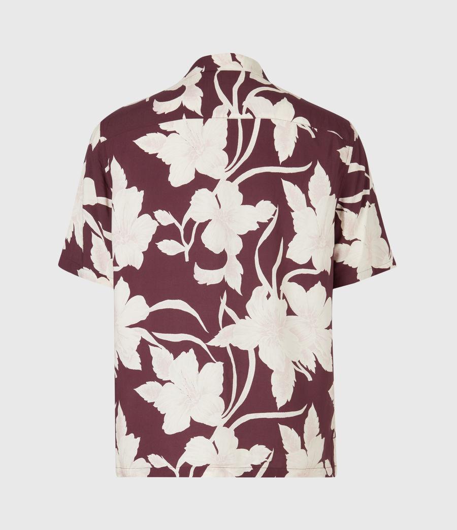 Men's Jardin Shirt (oxblood_red) - Image 3
