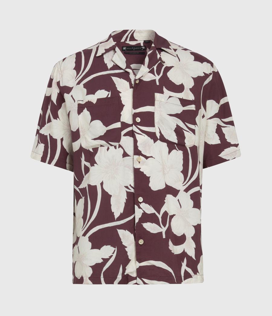 Mens Jardin Shirt (oxblood) - Image 2