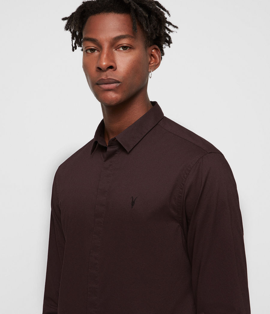 Mens Westhampton Shirt (oxblood_red) - Image 2