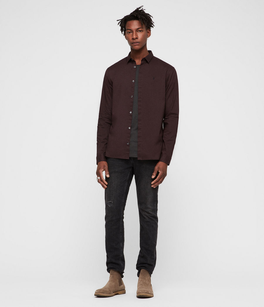 Mens Westhampton Shirt (oxblood_red) - Image 3