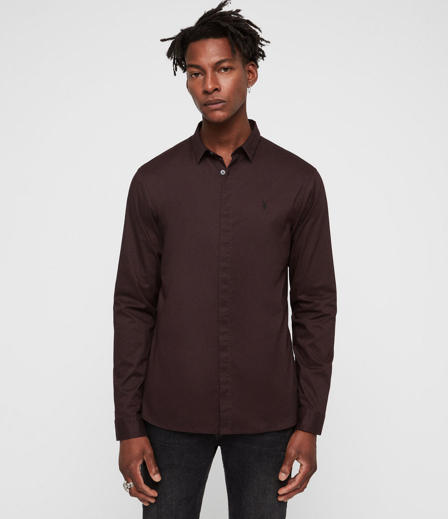 Mens Westhampton Shirt (oxblood_red) - Image 4