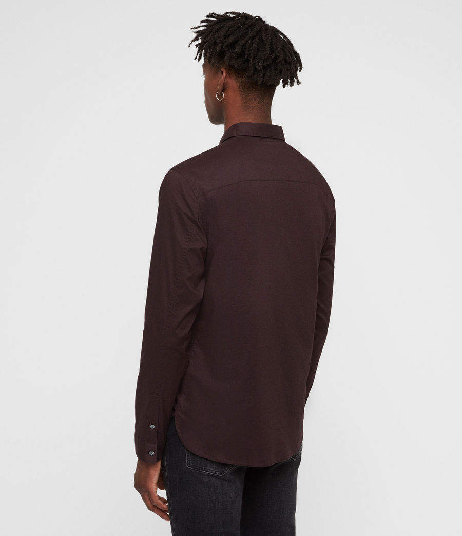 Mens Westhampton Shirt (oxblood_red) - Image 5