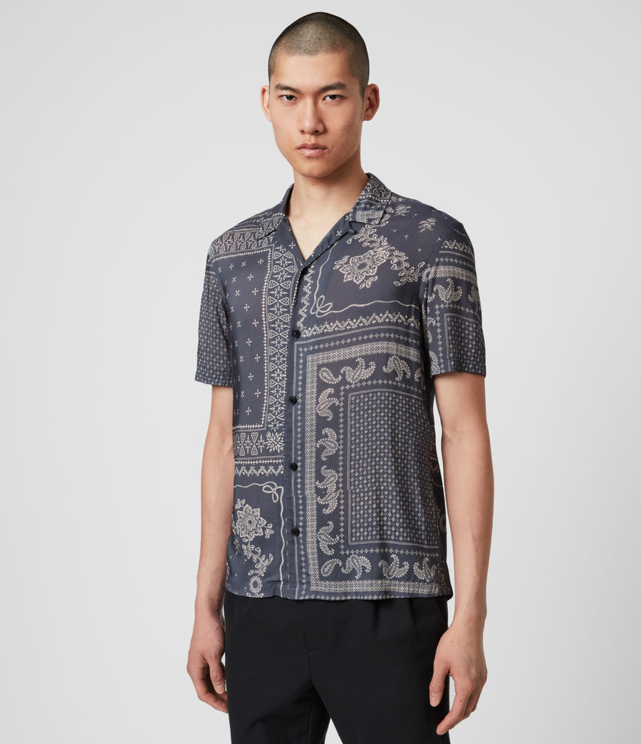 Mens Cherito Short Sleeve Shirt (iron_grey) - Image 2