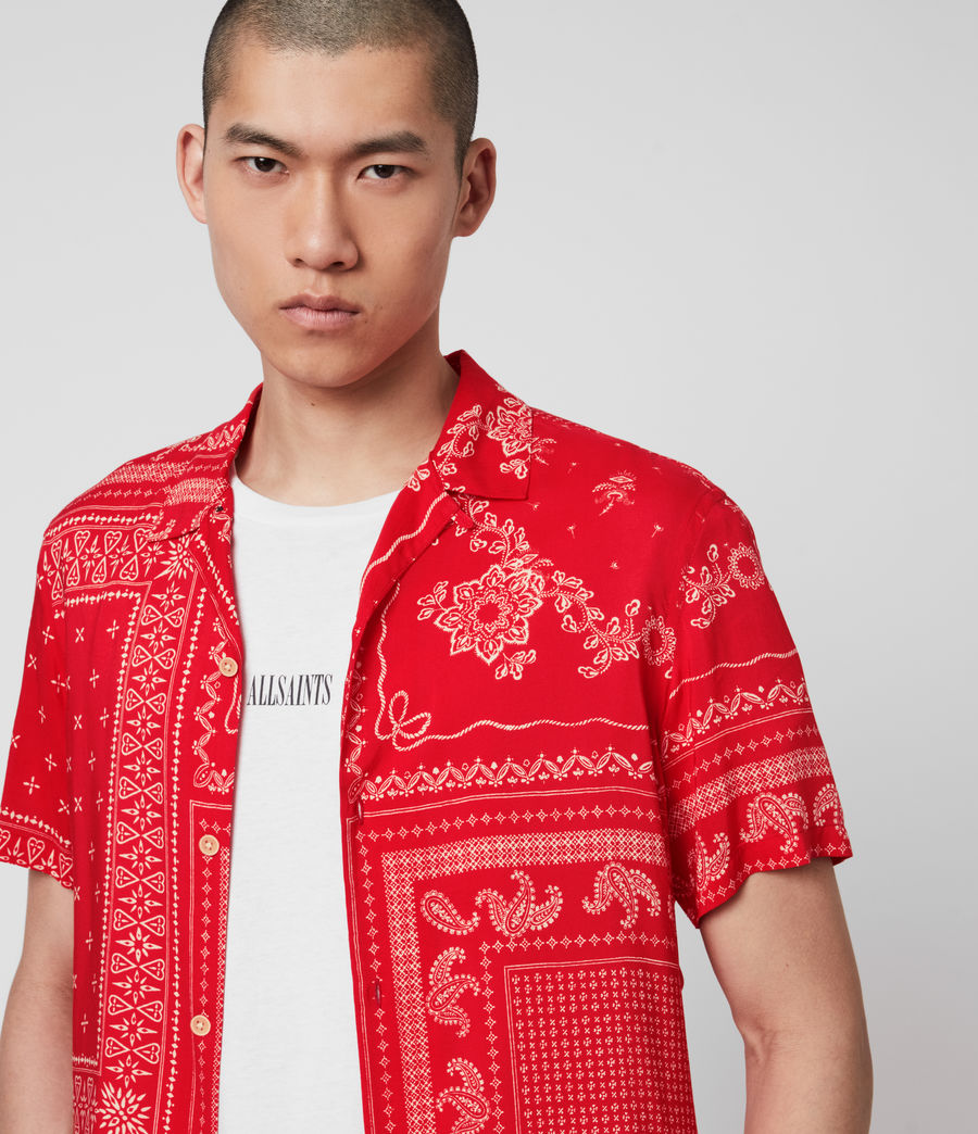 Men's Cherito Short Sleeve Shirt (chilli_red) - Image 2