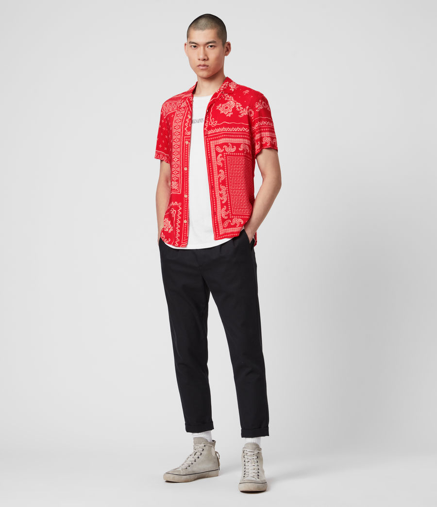 Men's Cherito Short Sleeve Shirt (chilli_red) - Image 3