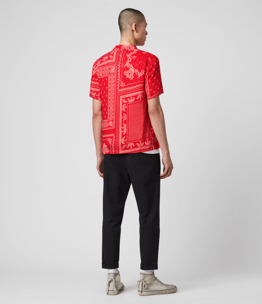 Mens Cherito Short Sleeve Shirt (chilli_red) - Image 5