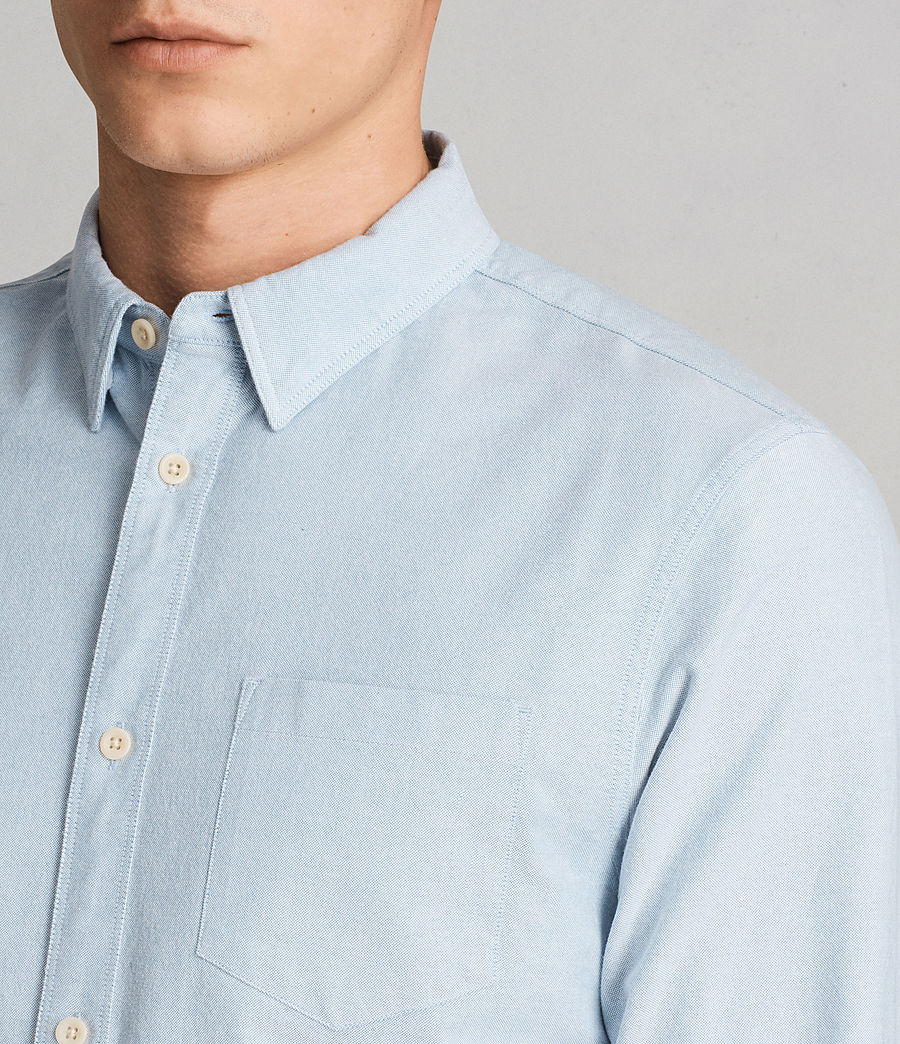 Mens Stukeley Shirt (Light Blue) - Image 2