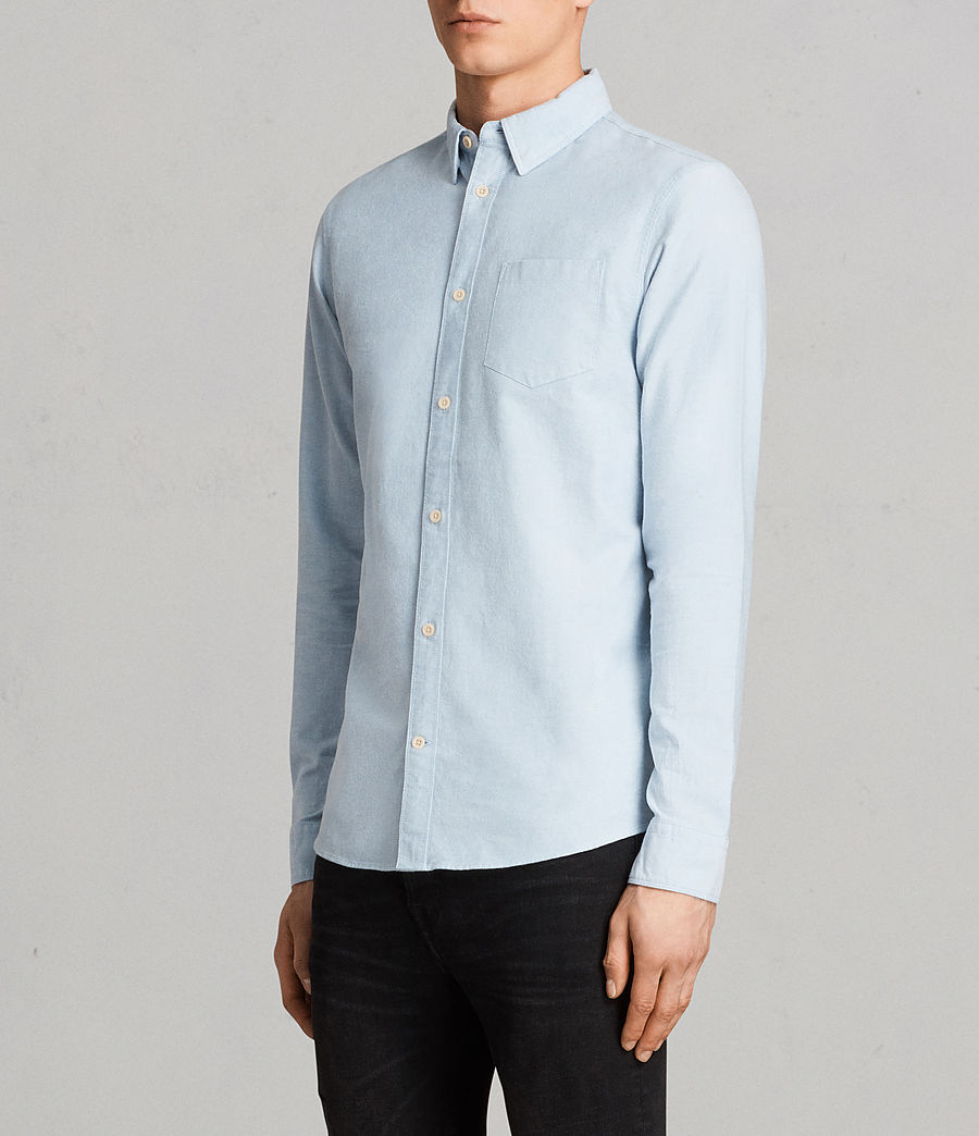 Mens Stukeley Shirt (Light Blue) - Image 3