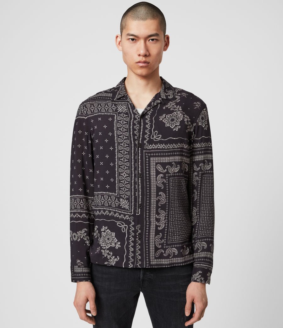 Uomo Cherito Long Sleeve Shirt (jet_black) - Image 1