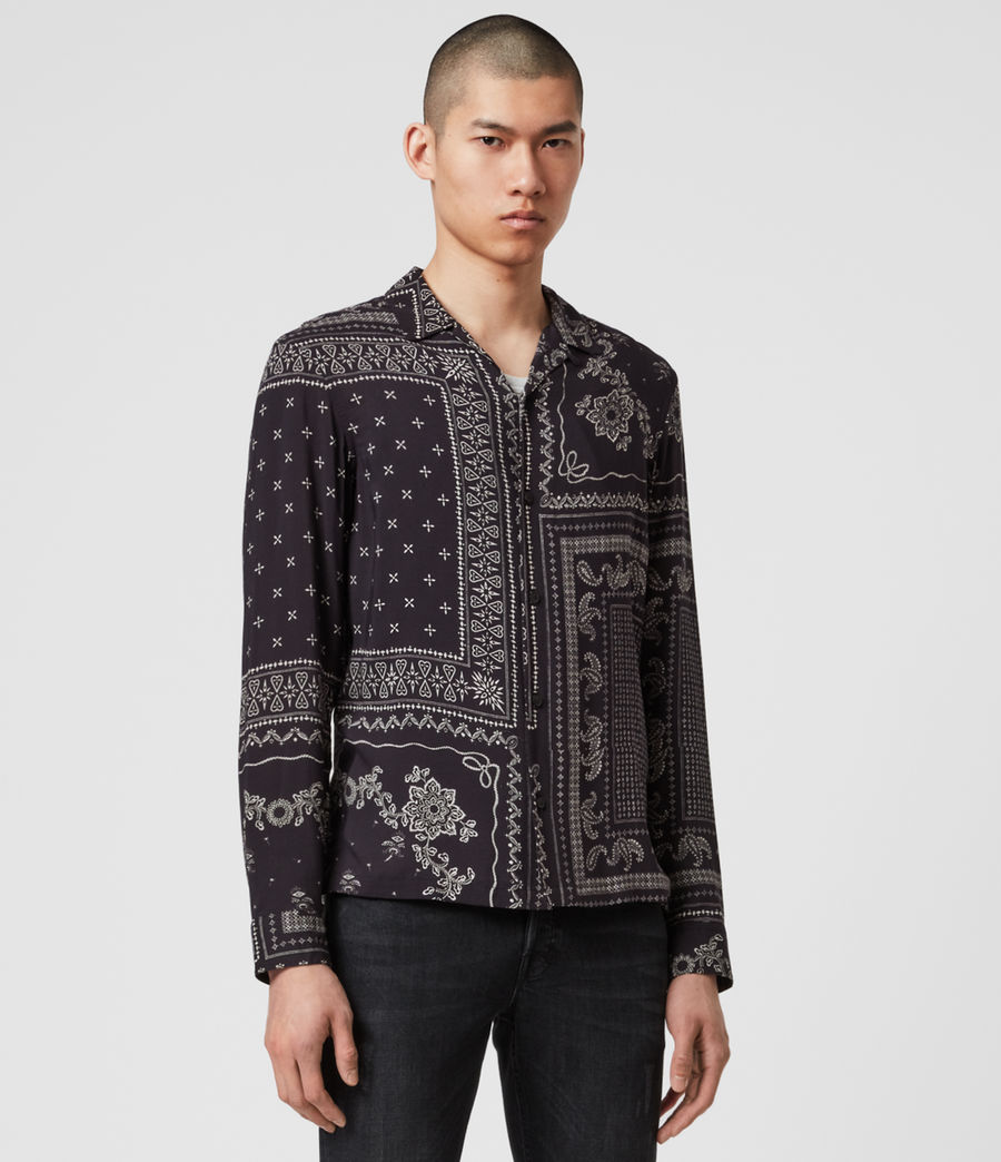 Uomo Cherito Long Sleeve Shirt (jet_black) - Image 3