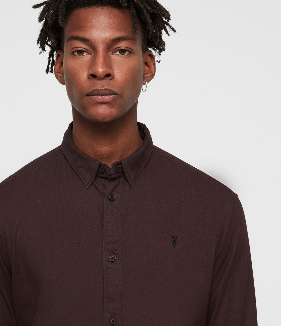 Men's Asbury Shirt (oxblood_red) - Image 2