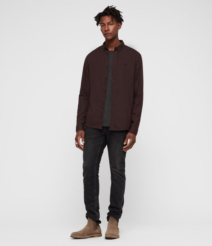 Men's Asbury Shirt (oxblood_red) - Image 3