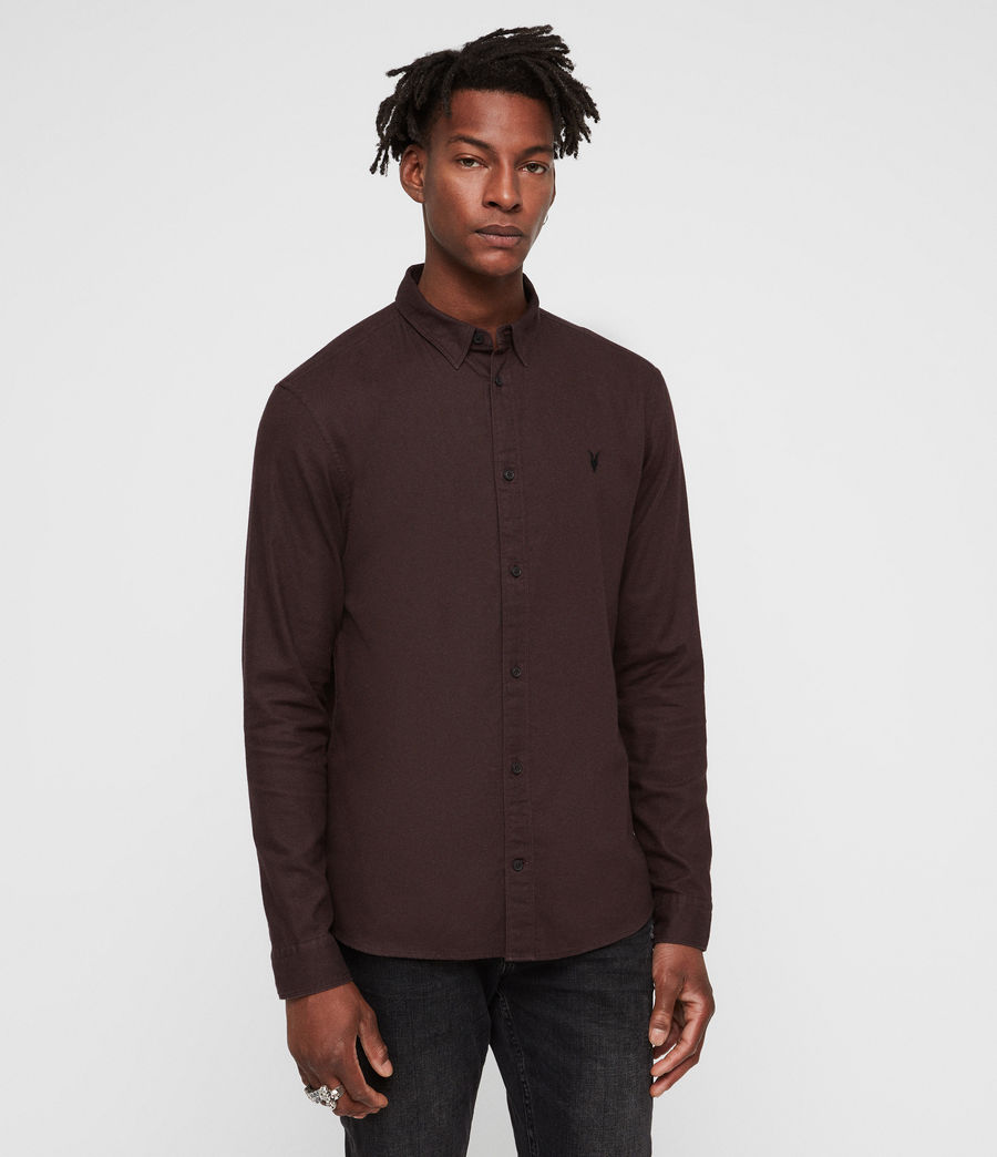 Men's Asbury Shirt (oxblood_red) - Image 4