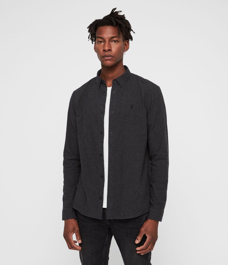 Hombre Camisa Asbury (charcoal_marl) - Image 1
