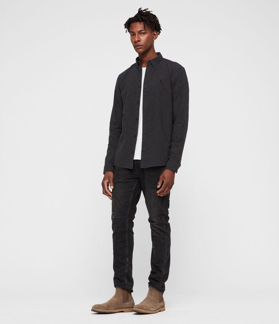 Hombre Camisa Asbury (charcoal_marl) - Image 3