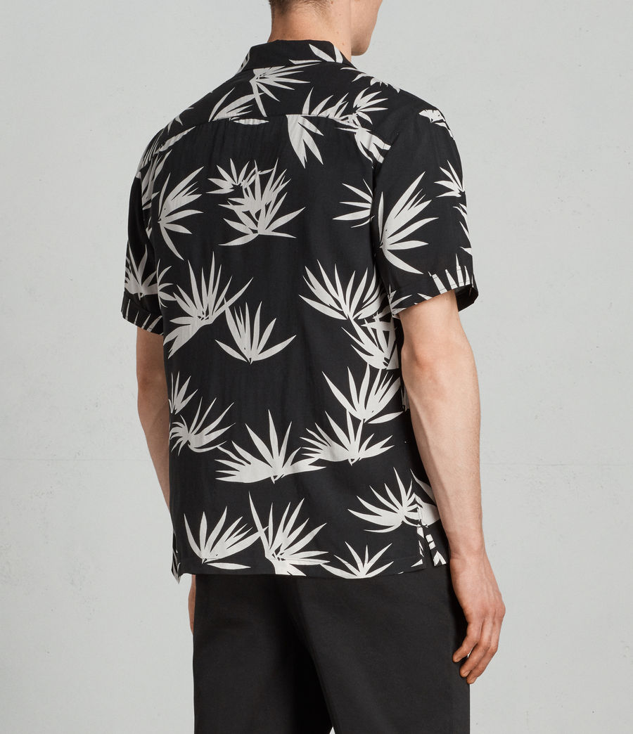 Mens Bhutan Hawaiian Shirt (black) - Image 4