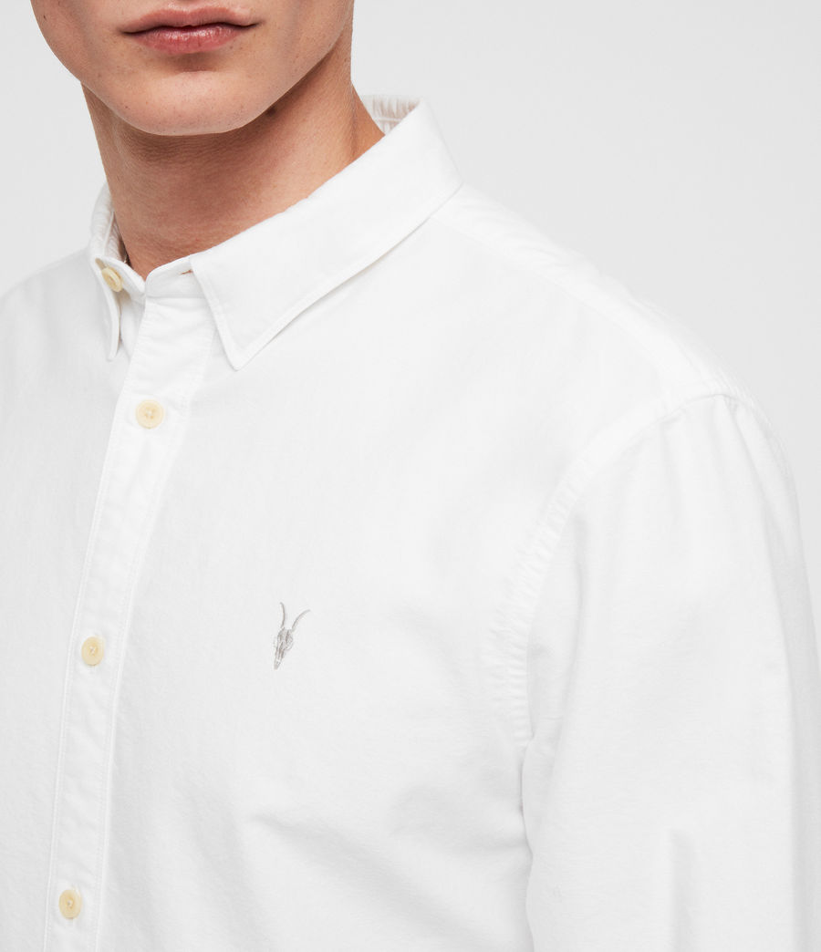 Mens Trenton Shirt (optic_white) - Image 2