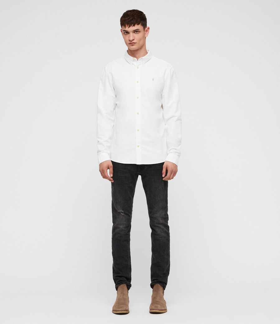 Mens Trenton Shirt (optic_white) - Image 3