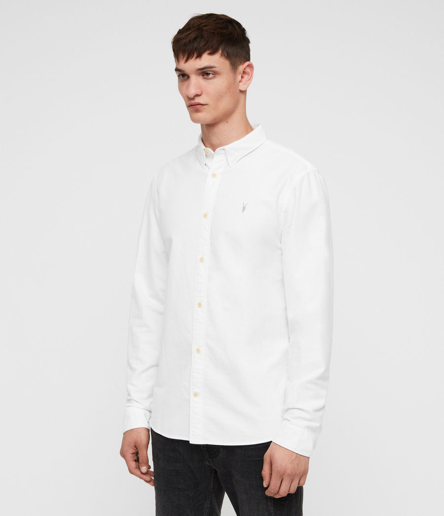 Mens Trenton Shirt (optic_white) - Image 4