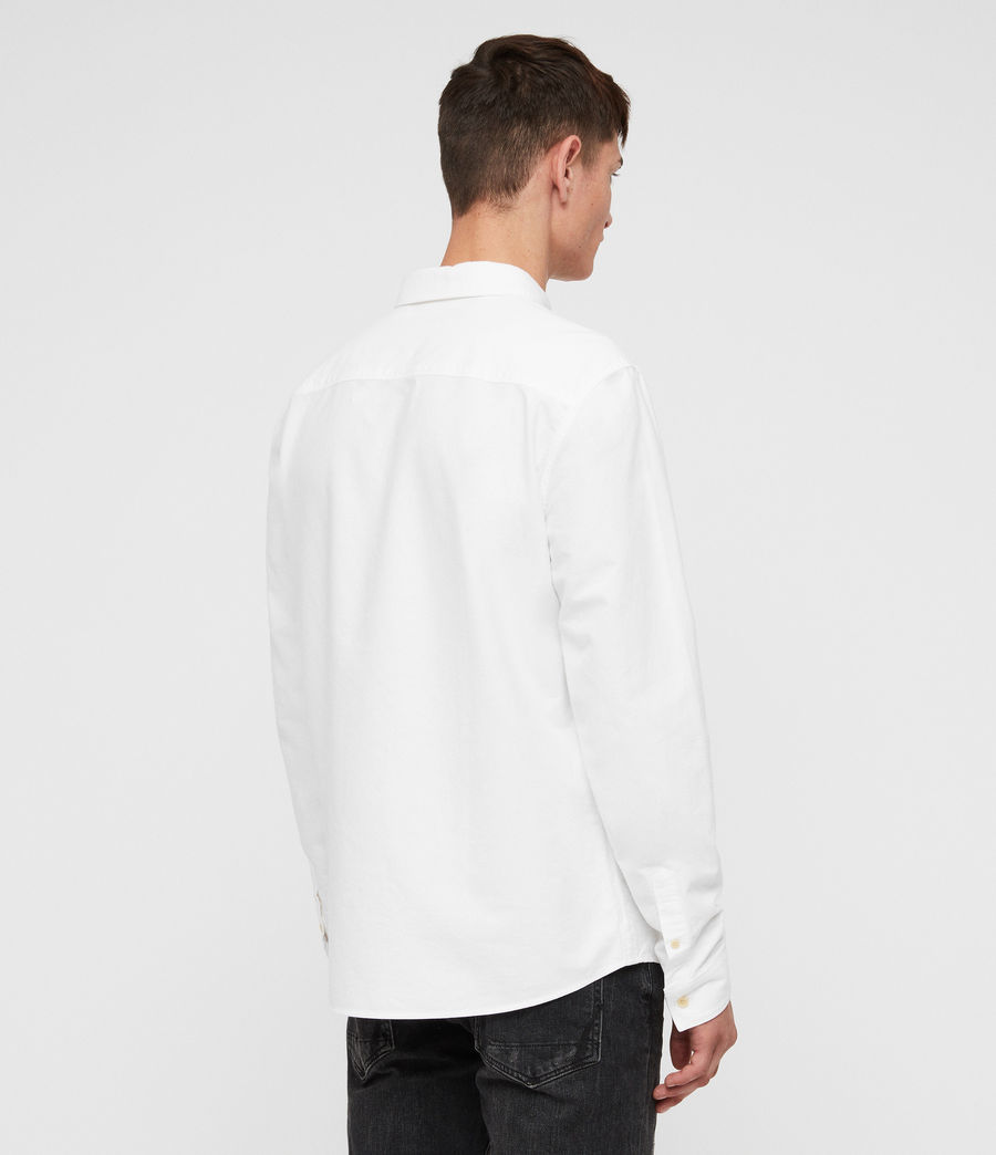 Mens Trenton Shirt (optic_white) - Image 6