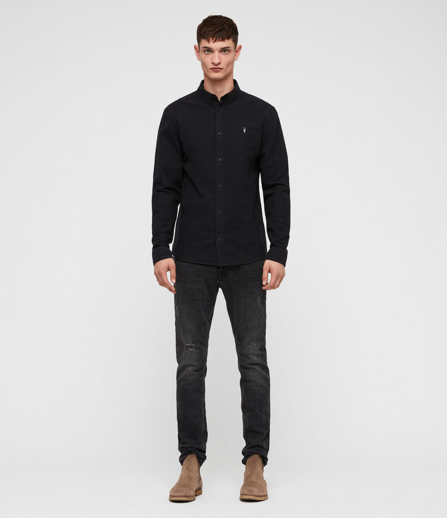 Mens Trenton Shirt (jet_black) - Image 4