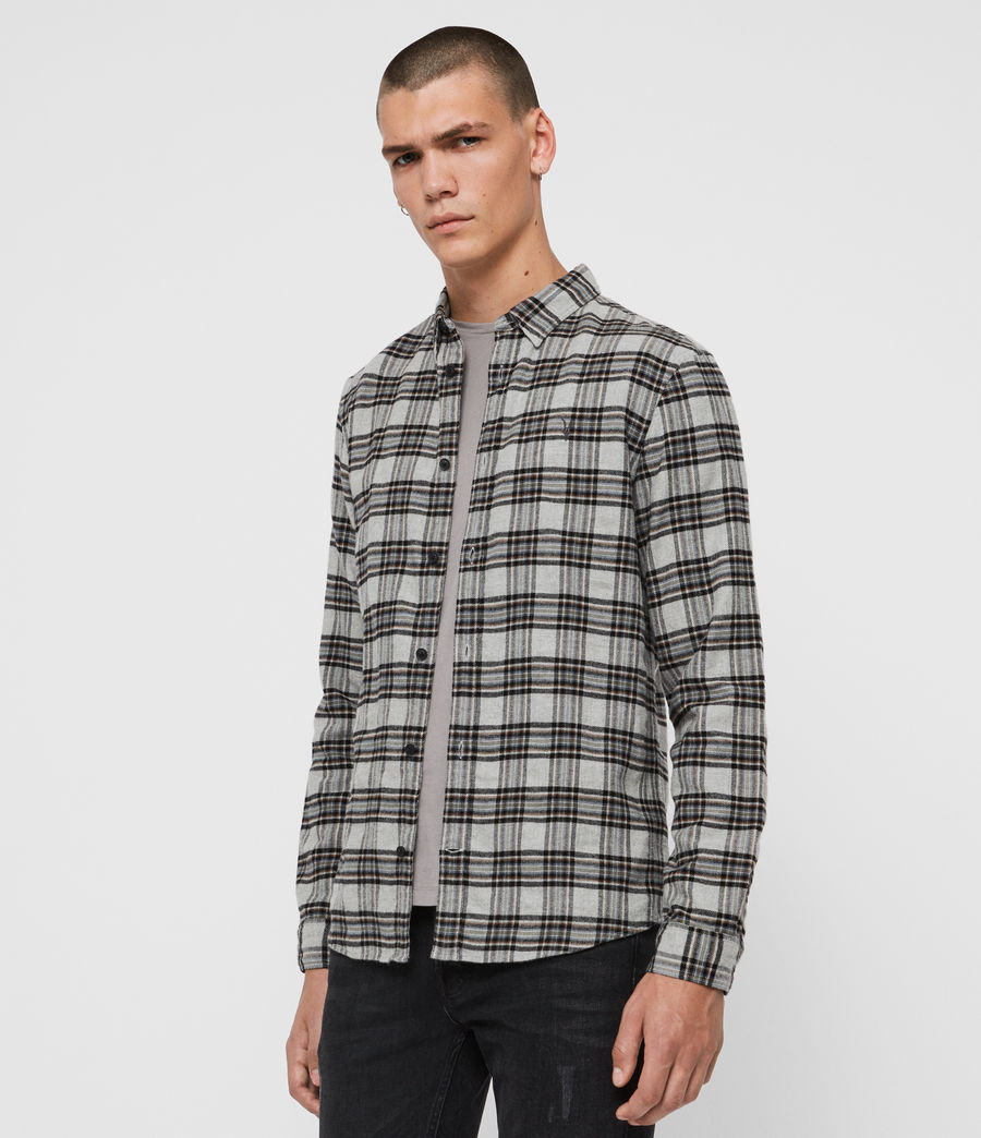 Mens Gaines Shirt (charcoal) - Image 4
