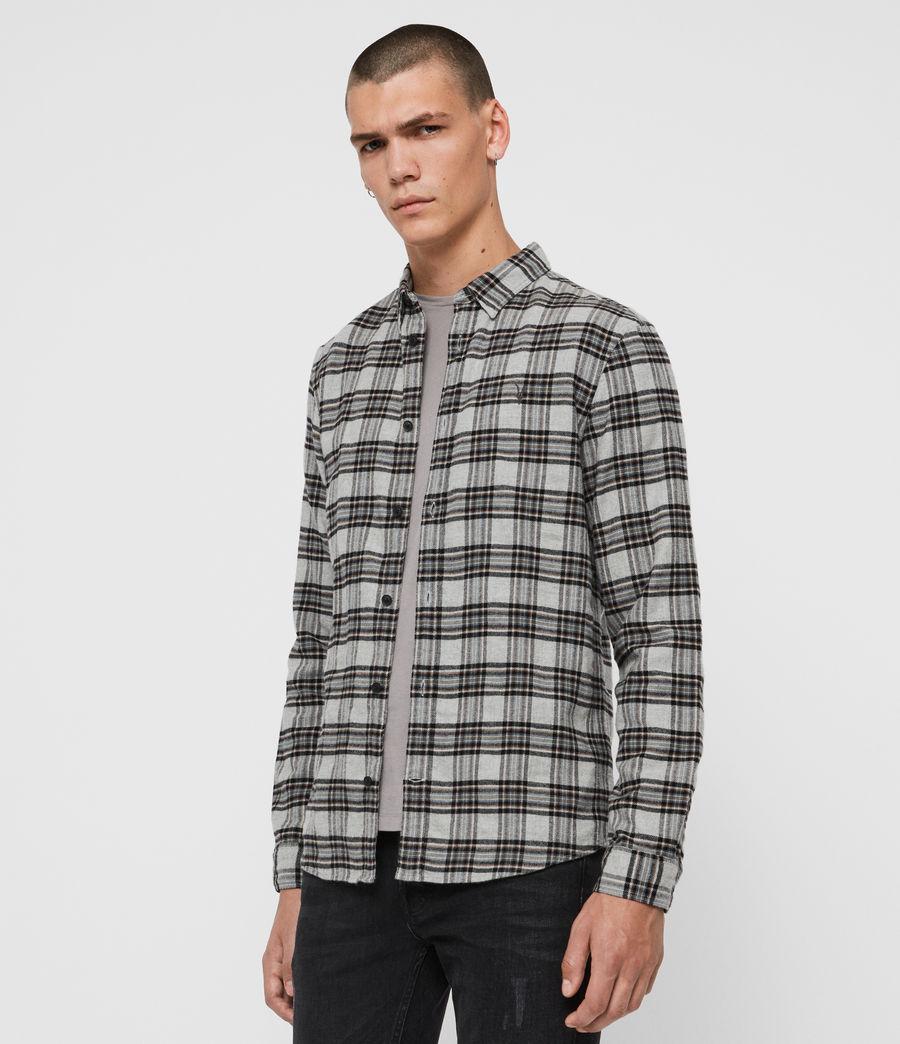 Hombres Camisa de Franela Gaines (grey_marl) - Image 4