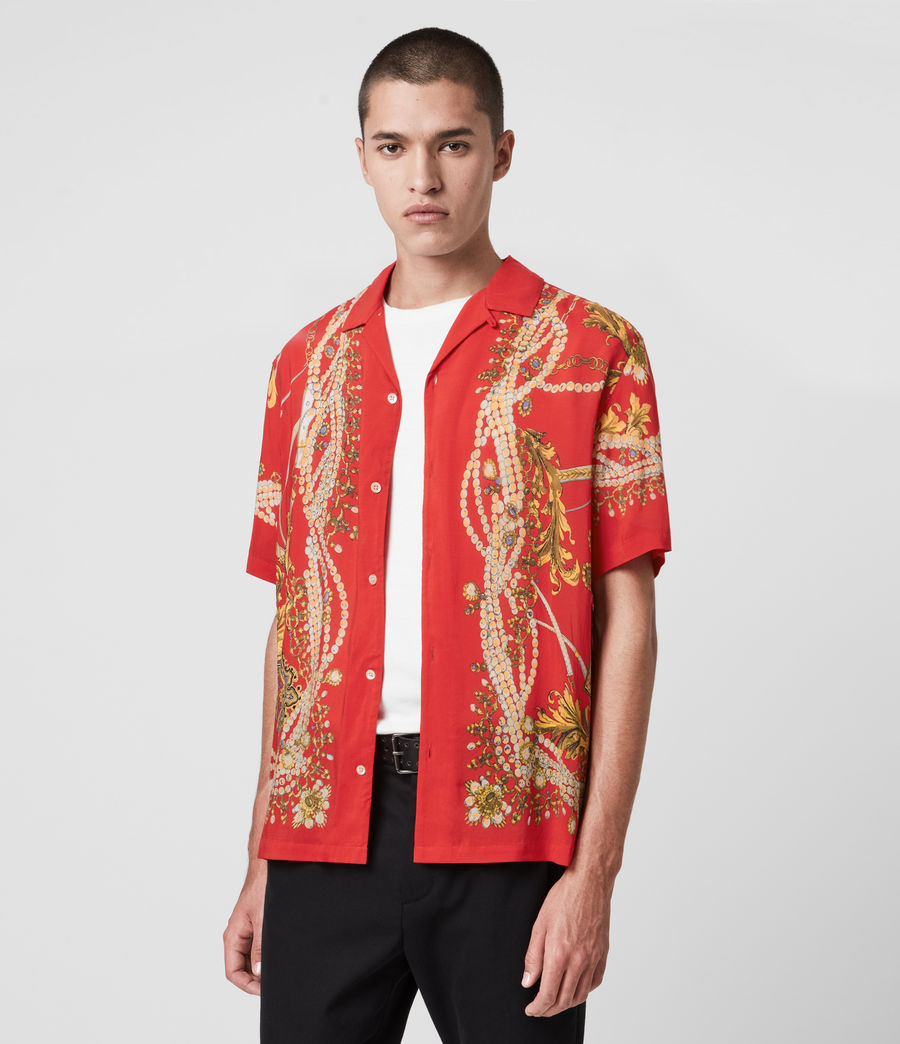 Mens Rubens Shirt (red) - Image 4
