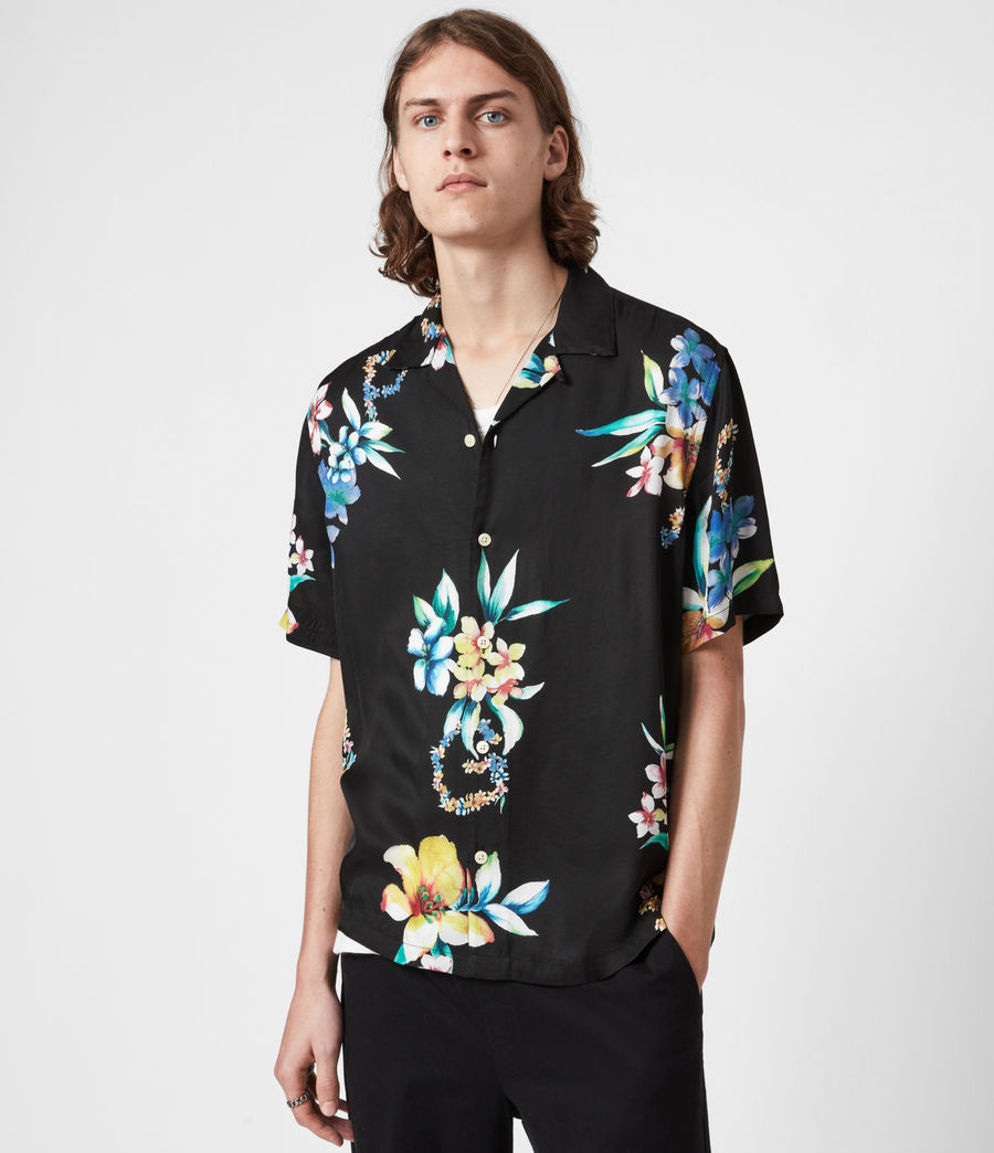 Men's Hana Shirt (jet_black) - Image 10