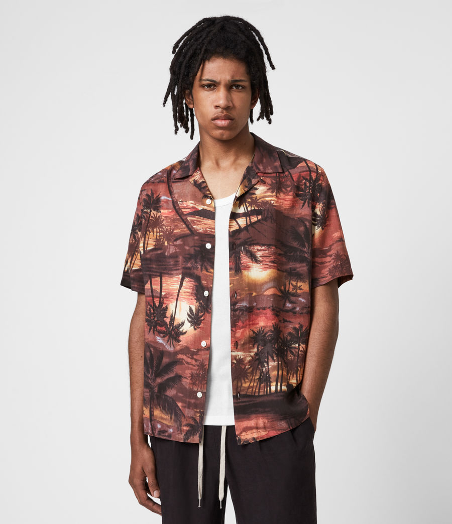 Hommes Sunbeam Shirt (scorched_red) - Image 1