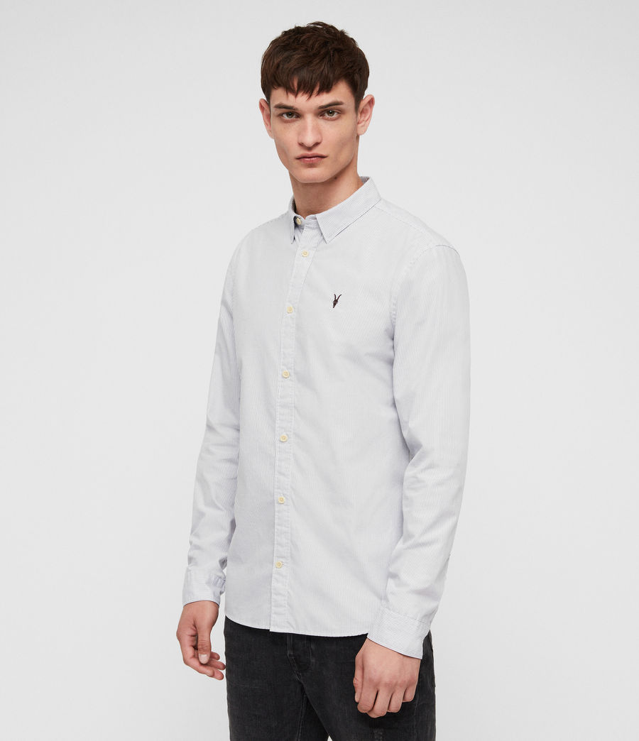Men's Easton Shirt (white__grey) - Image 3