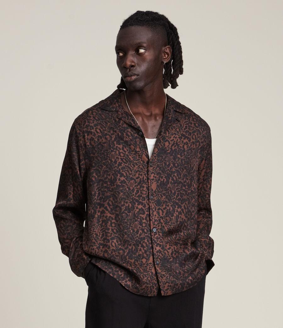 Herren Halftone Shirt (woodland_brown) - Image 1